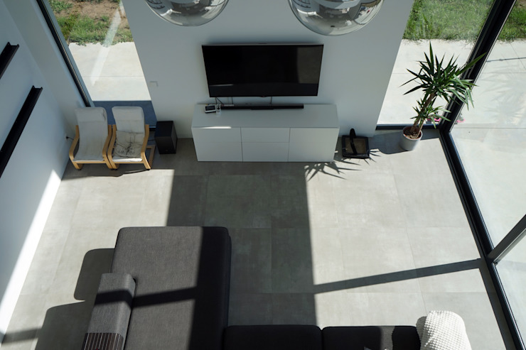 AD+ arquitectura Modern Living Room Ceramic Grey