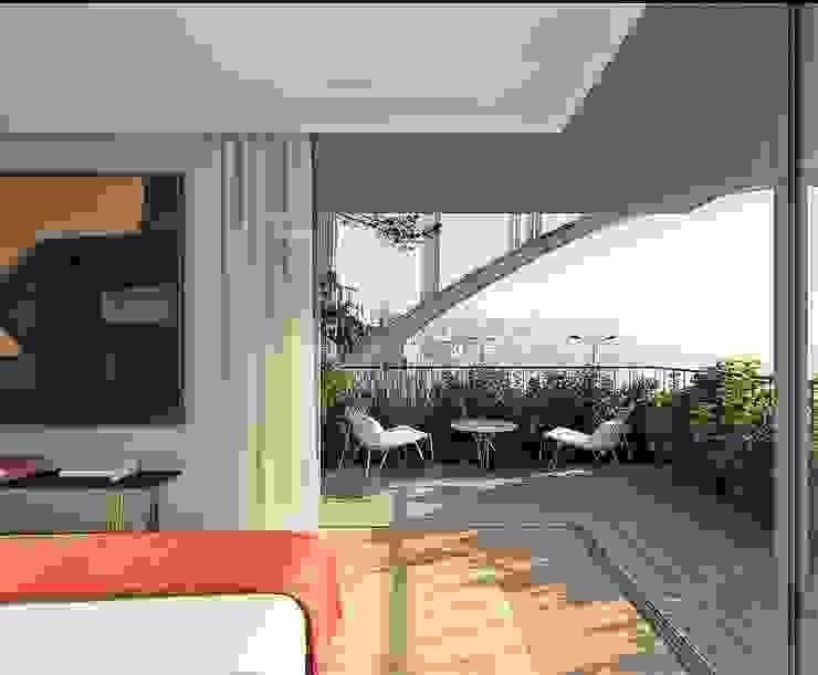 Varanda Propriété Générale International Real Estate Varandas, marquises e terraços modernos