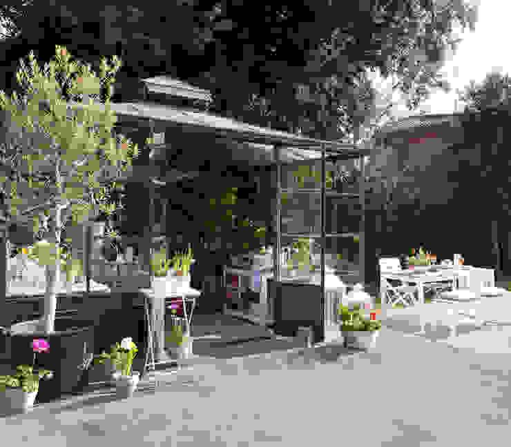 ROSA GRES Wiejski balkon, taras i weranda Ceramiczny Szary
