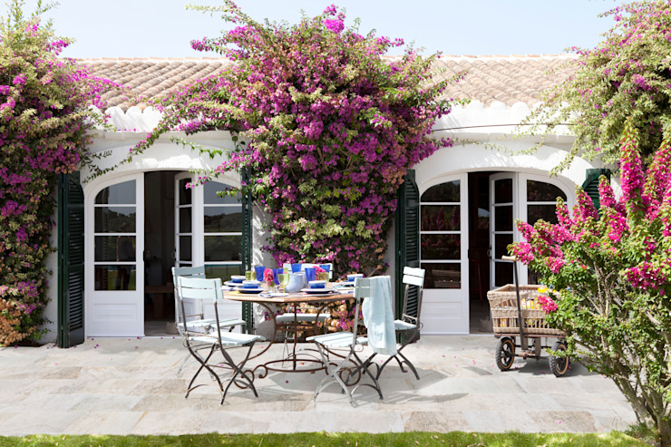 ROSA GRES Śródziemnomorski balkon, taras i weranda Ceramiczny Beżowy