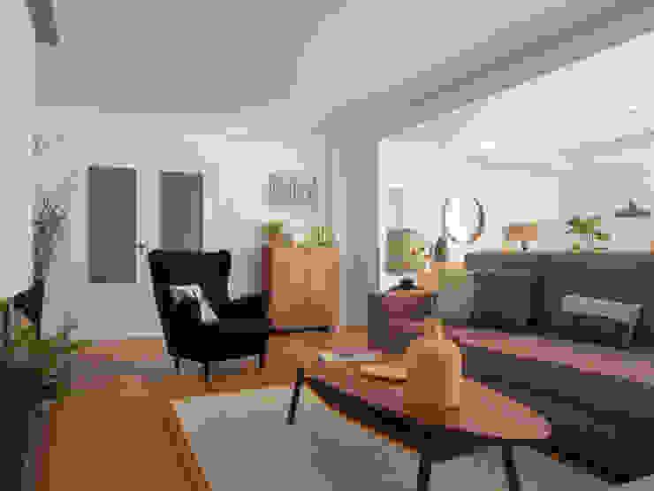 Sala Comum | Depois MUDA Home Design Salas de estar escandinavas