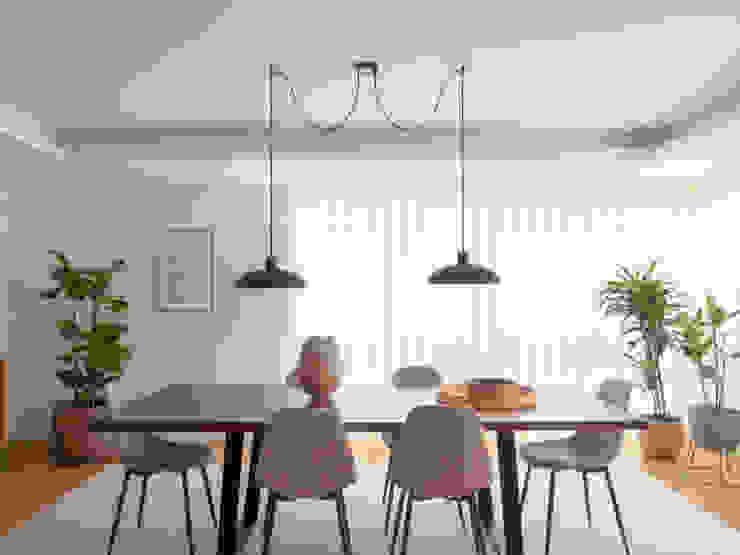 Sala Comum | Depois MUDA Home Design Salas de jantar escandinavas