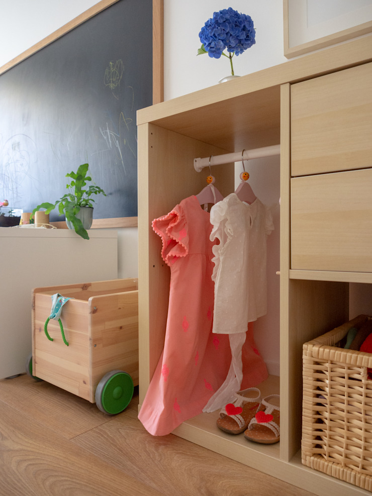 Quarto de Menina | Depois MUDA Home Design Quartos de criança escandinavos