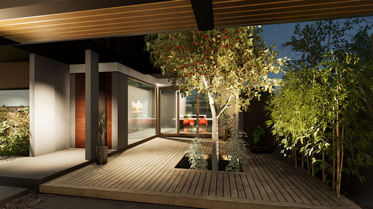 L House Jeff McDaniel Architects Modern home