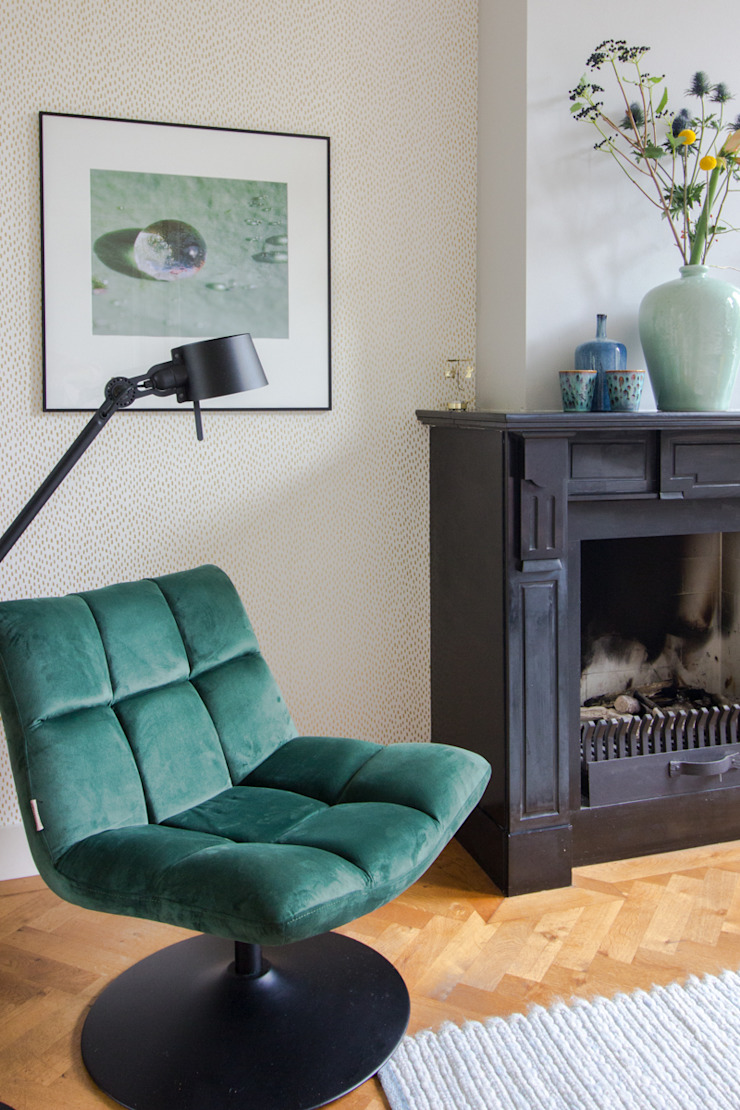 casa&co. Eclectic style living room Green