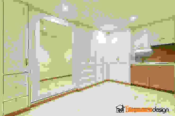 Piccolo Monolocale classico Falegnamerie Design Casa piccola Legno Beige