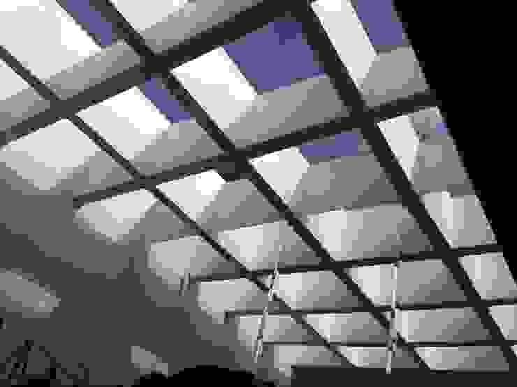 Casa Pedregal Merkalum Techos planos Vidrio Metálico/Plateado
