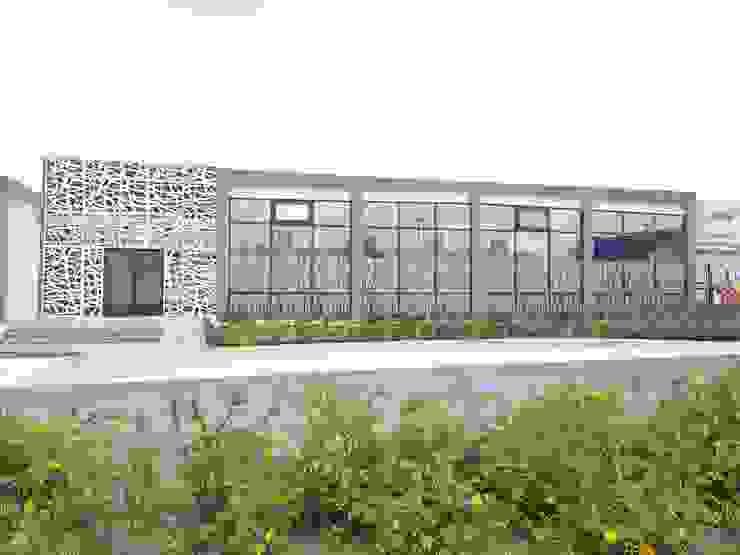 PANEL DE ALUMINIO Merkalum Piscinas de estilo moderno Aluminio/Cinc Blanco