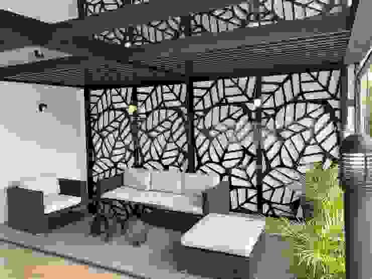 Merkalum Modern Terrace Aluminium/Zinc Black