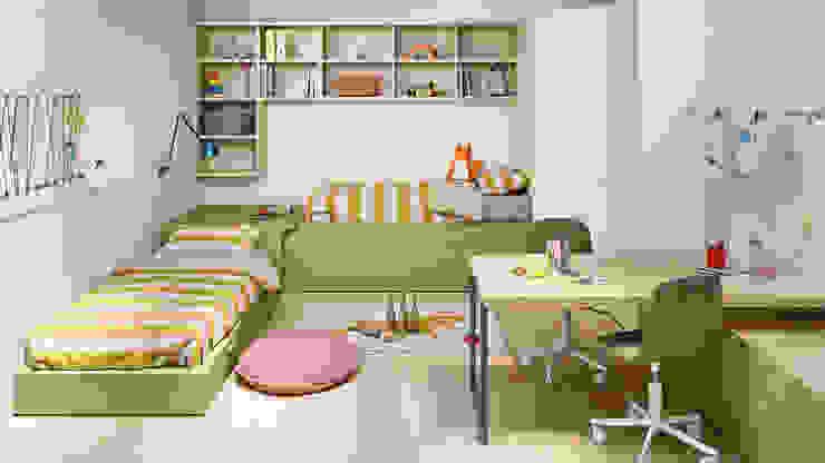 Cameretta per 2. L&M design di Marelli Cinzia Camera da letto in stile mediterraneo Legno composito Verde