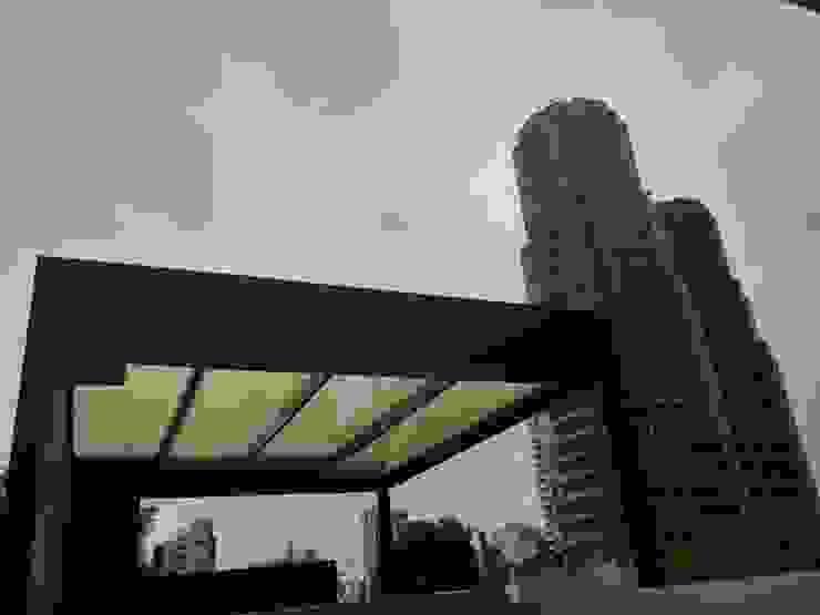 PH Campos Eliseos Merkalum Balcones y terrazas modernos: Ideas, imágenes y decoración Aluminio/Cinc Negro