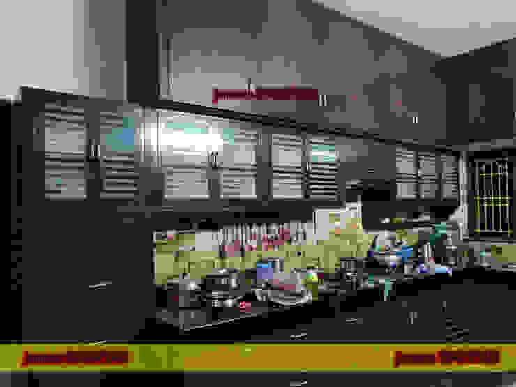 balabharathi pvc interior design CocinaArmarios y estanterías Plástico Acabado en madera