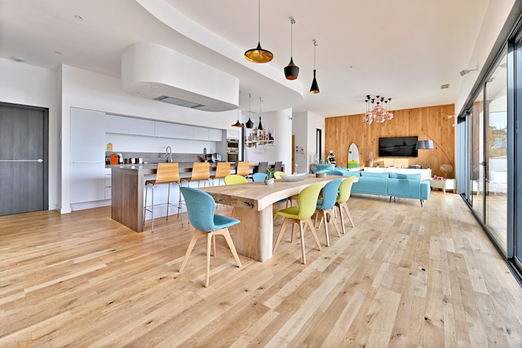 Salon Contemporain Brunel Architecture Salle à manger moderne