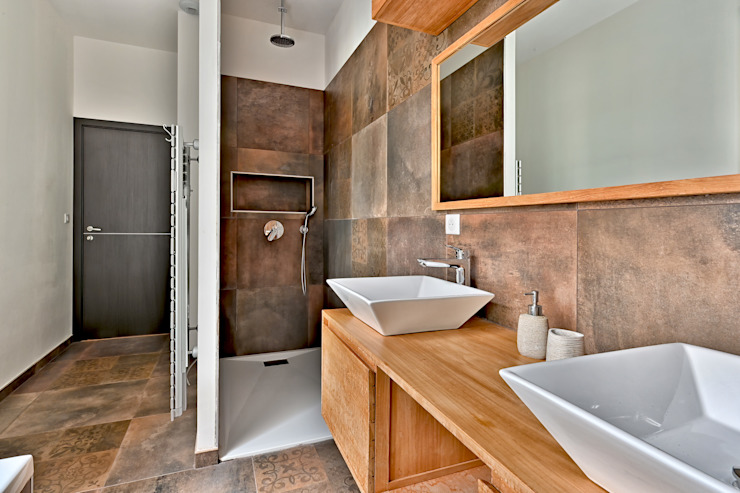 Villa contemporaine Aubais Brunel Architecture Salle de bain moderne