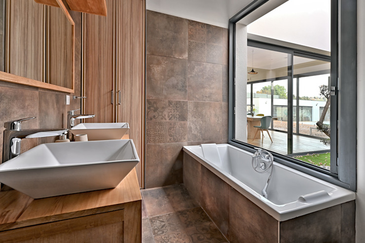 Salle de Bain avec Grand Galandage Brunel Architecture Salle de bain moderne