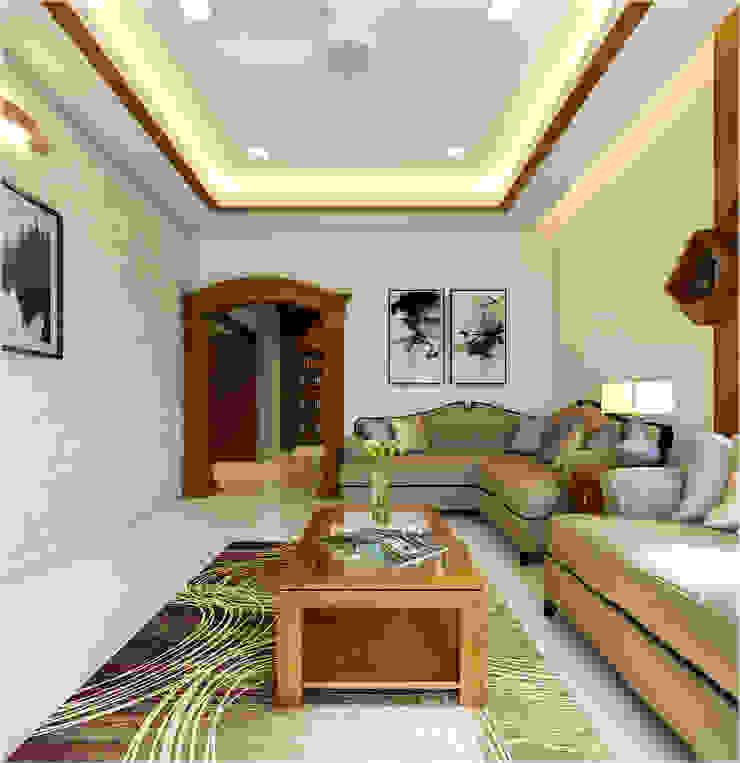 Premdas Krishna Soggiorno moderno Legno Effetto legno