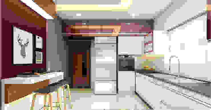 Premdas Krishna Cucina moderna Legno Effetto legno