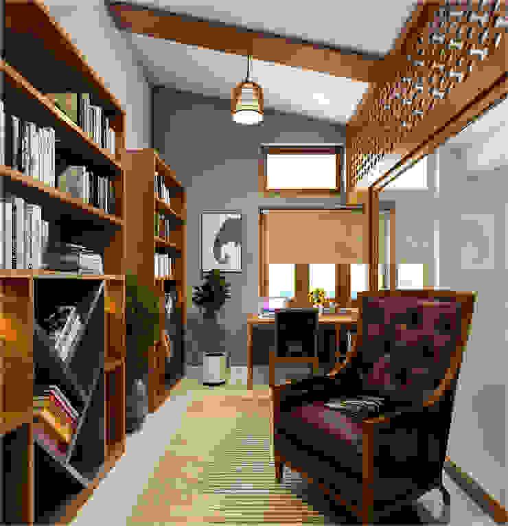 Premdas Krishna Studio moderno Legno Effetto legno
