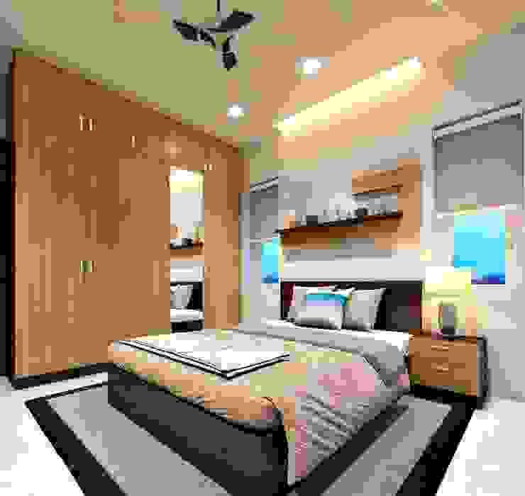 Premdas Krishna Camera da letto piccola Legno Effetto legno