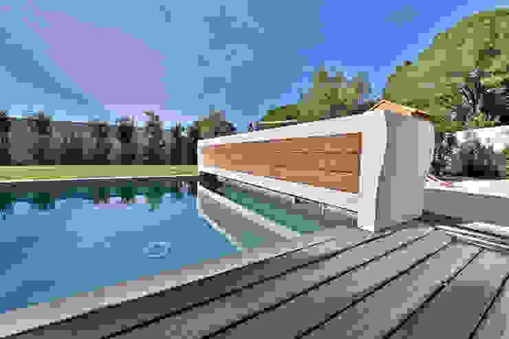 Villa Nages et Solorgues Brunel Architecture Jardin méditerranéen