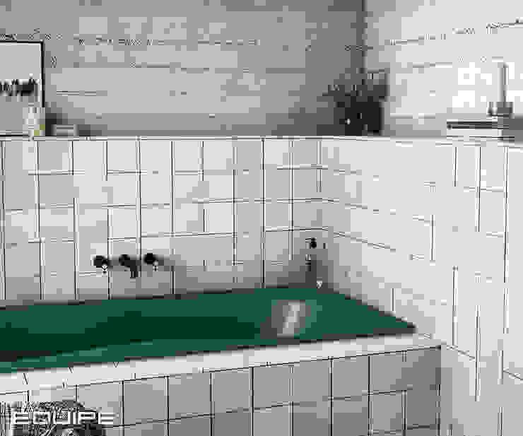 Equipe Ceramicas Scandinavian style bathroom Tiles White