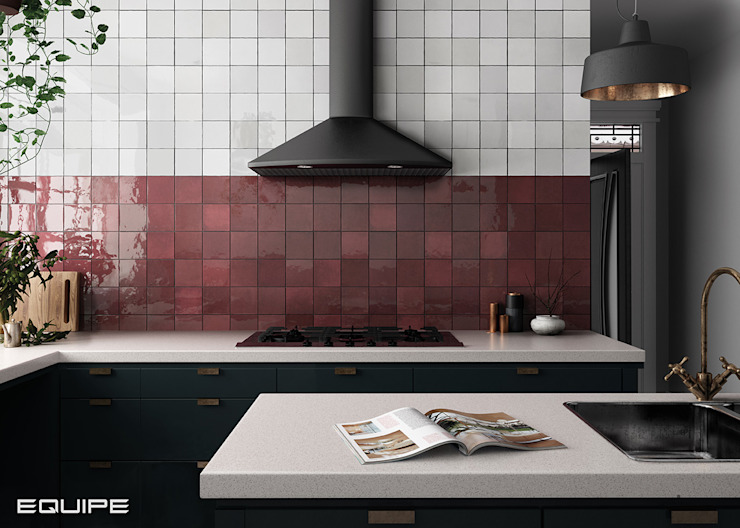 Equipe Ceramicas Scandinavian style kitchen Tiles Red