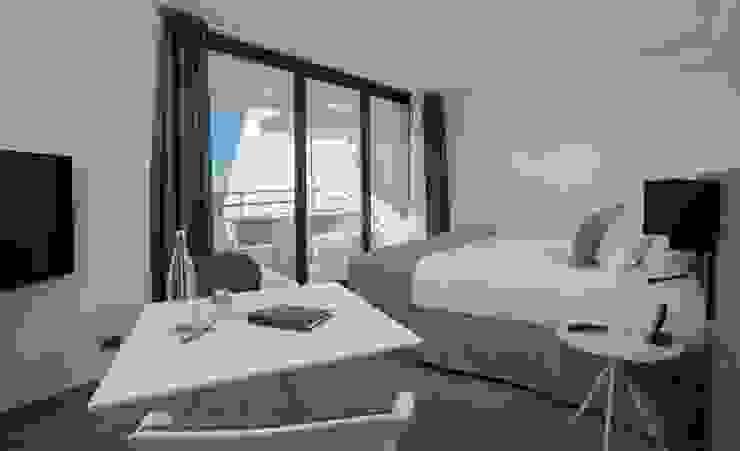 HOTEL LA PLAGE 5 ETOILES Brunel Architecture Chambre moderne