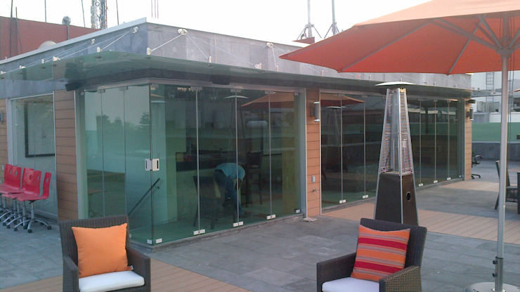 Merkalum Moderner Balkon, Veranda & Terrasse Glas Transparent