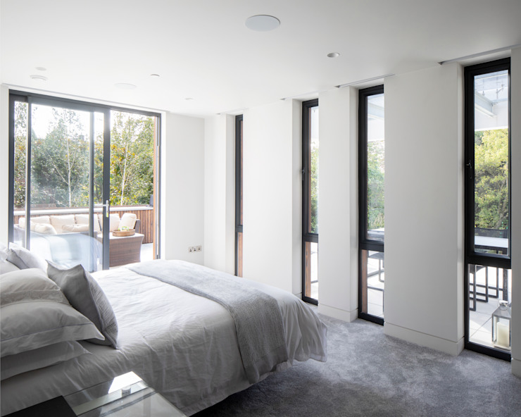Bedroom Clear Architects Modern style bedroom