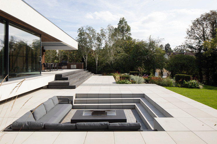 Sunken Fire Pit Clear Architects Modern houses