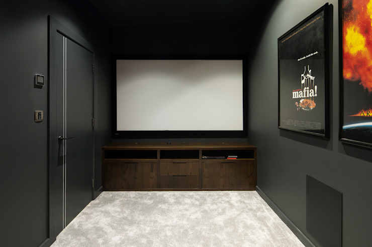 Cinema Room Clear Architects Modern media room
