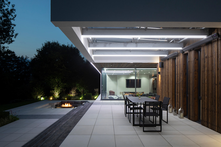Exterior (Night) Clear Architects Modern houses