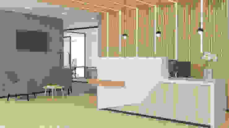 4 + Arquitectura Moderne kantoor- & winkelruimten Hout Hout