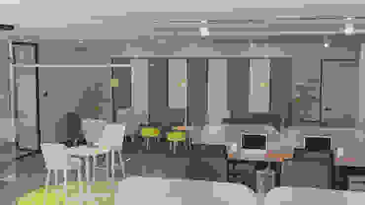 4 + Arquitectura Kantoren & winkels Textiel Grijs