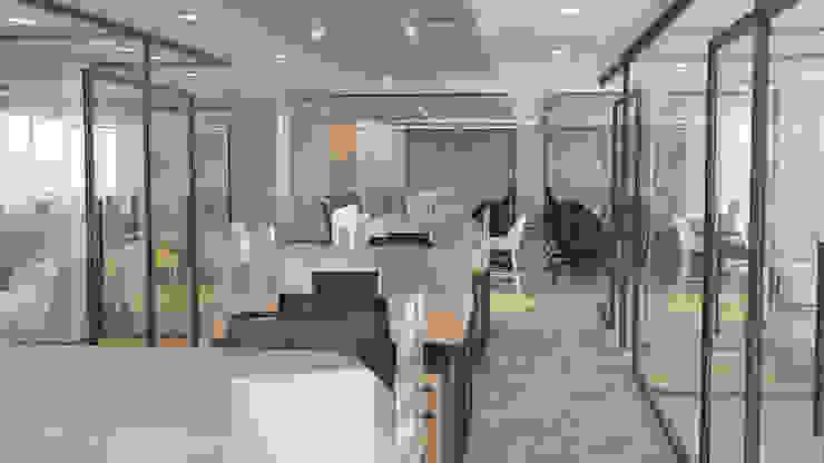4 + Arquitectura Moderne kantoor- & winkelruimten Glas Grijs
