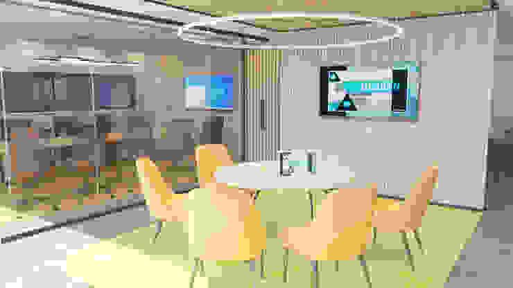 4 + Arquitectura Moderne kantoor- & winkelruimten Bamboe Geel
