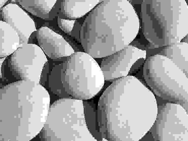 Premium Pure White pebble 60-90 mm. Canteras el Cerro 花園配件與裝飾品 大理石 White