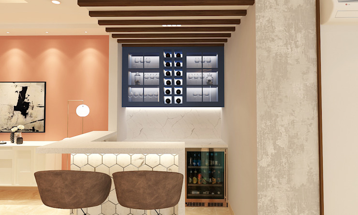 DLF The Crest- Bar Area The Workroom Modern wine cellar