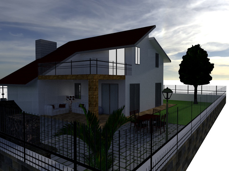 Casa passiva DESEN Giardino moderno