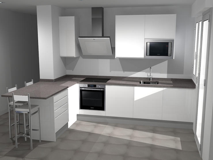 Refovert S.L. KitchenCabinets & shelves Chipboard White