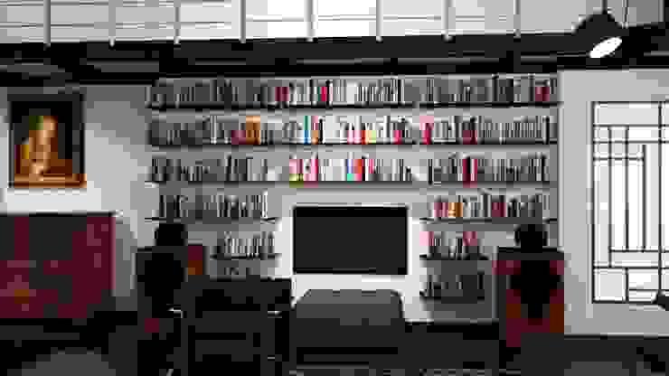 Loft Milanese ibedi laboratorio di architettura Studio moderno Argento / Oro Metallizzato/Argento
