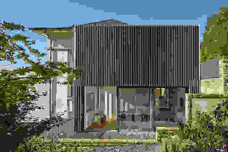 Anbau und Erweiterung eines Einfamilienhauses LUKAS HUNEKE PHOTOGRAPHY Einfamilienhaus Eisen/Stahl Grau