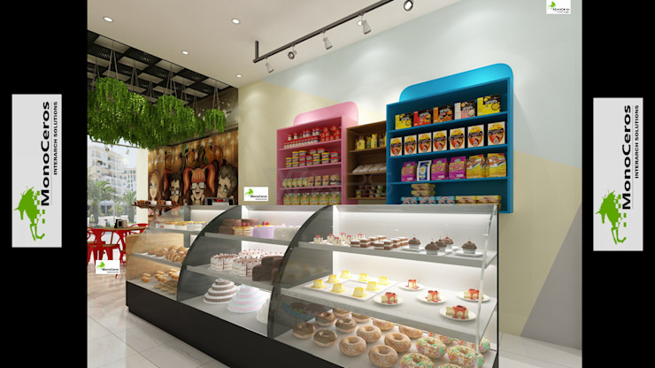 Bakery interior work Monoceros Interarch Solutions Modern offices & stores