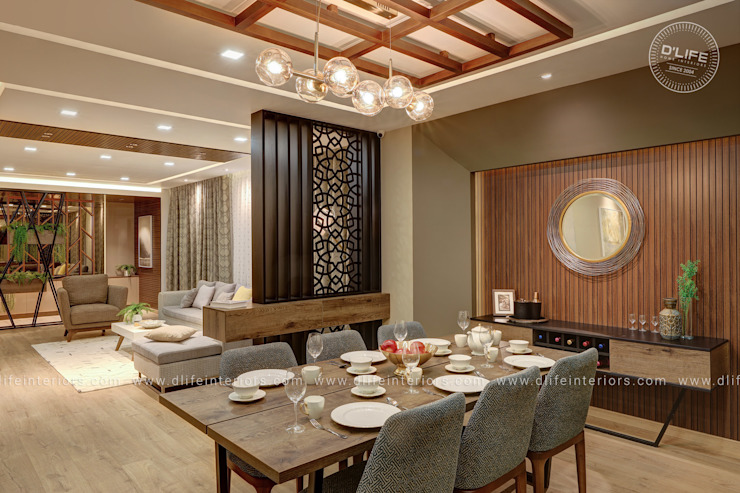 Luxury Dining Space By D'LIFE DLIFE Home Interiors Dining roomChairs & benches