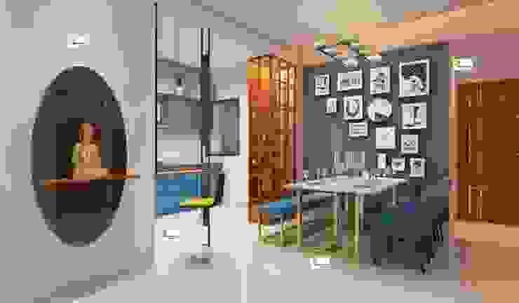 Flat interior work Monoceros Interarch Solutions Modern dining room
