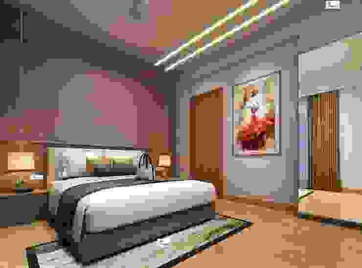 Flat interior work Monoceros Interarch Solutions Small bedroom