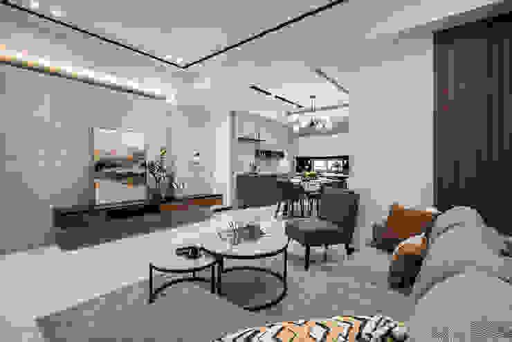 SING萬寶隆空間設計 Ruang Keluarga Modern