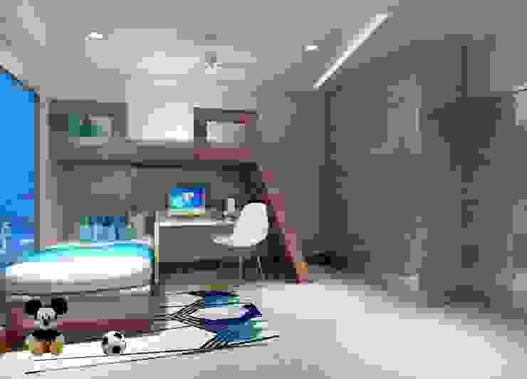 Flat interior work Monoceros Interarch Solutions Modern style bedroom
