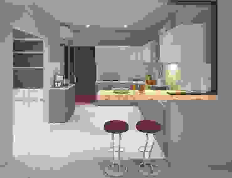 Flat interior work Modern kitchen by Monoceros Interarch Solutions Modern
