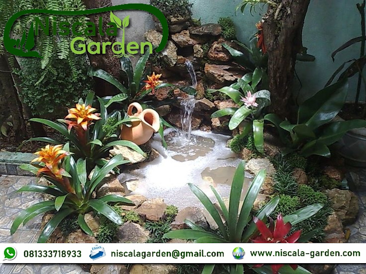 Desain Kolam Koi Klasik NISCALA GARDEN   Tukang Taman Surabaya Pusat Perbelanjaan Klasik